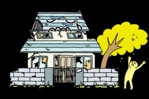 劣化していく空き家