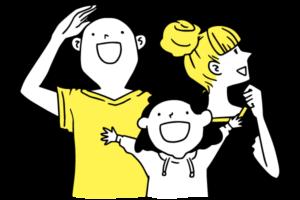 移住見学の家族